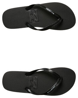 BLACK MENS FOOTWEAR BILLABONG THONGS - 9685932BLK