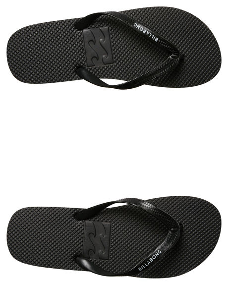 BLACK MENS FOOTWEAR BILLABONG THONGS - 9685932BLK
