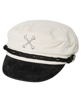 WHITE MENS ACCESSORIES BILLY BONES CLUB HEADWEAR - BBCHAT015WHT