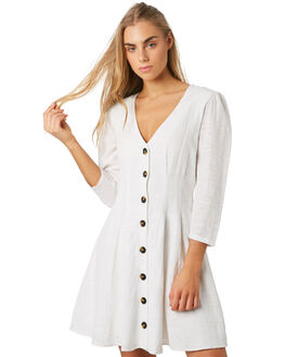 WHITE WOMENS CLOTHING THE HIDDEN WAY DRESSES - H8194444WHT