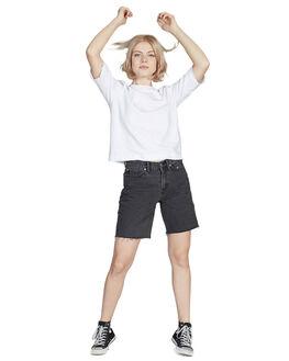 WHITE WOMENS CLOTHING QUIKSILVER TEES - EQWKT03026-WBB0