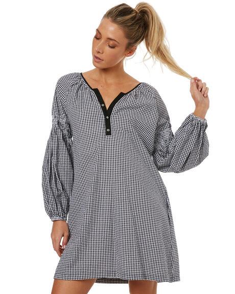 BLACK WOMENS CLOTHING RUSTY DRESSES - DRL0898BLK