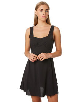 FADED BLACK WOMENS CLOTHING THRILLS DRESSES - WTR9-902BFFBLK