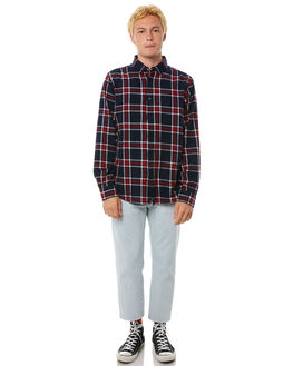 RED NAVY MENS CLOTHING HUFFER SHIRTS - MSH81S401RED