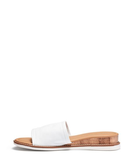 WHITE WOMENS FOOTWEAR JUST BECAUSE SLIDES - SOLE-JB0530WHT