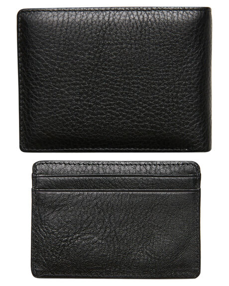 BLACK MENS ACCESSORIES RUSTY WALLETS - WAM0520BLK