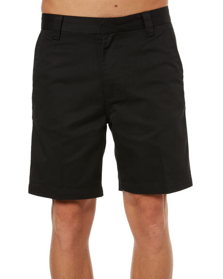 BLACK MENS CLOTHING GLOBE SHORTS - GB01726001BLK