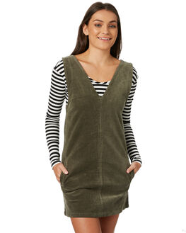 OLIVE WOMENS CLOTHING AFENDS PLAYSUITS + OVERALLS - W182804OLI