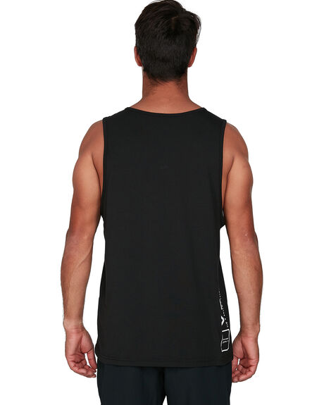 BLACK MENS CLOTHING RVCA SINGLETS - RV-R307002-BLK