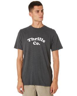 MERCH BLACK MENS CLOTHING THRILLS TEES - TH9-127MBMCBLK