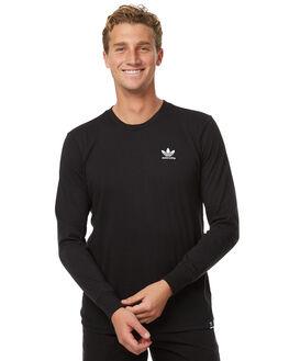 BLACK MENS CLOTHING ADIDAS ORIGINALS TEES - BR4932BLK