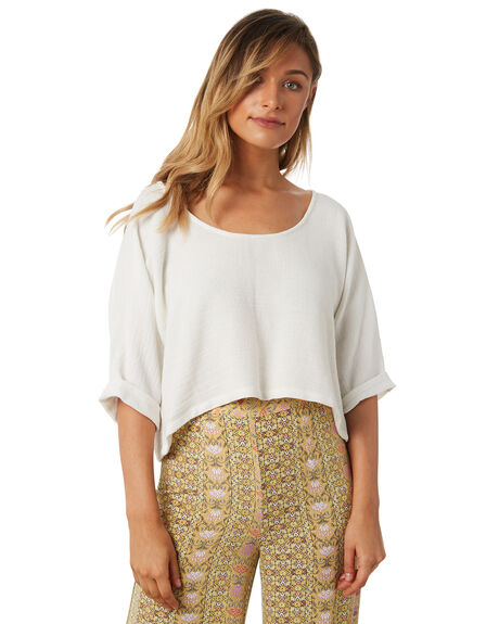 WHITE WOMENS CLOTHING TIGERLILY FASHION TOPS - T371037WHT