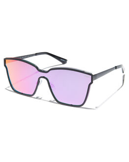 BLACK PURPLE PINK WOMENS ACCESSORIES QUAY EYEWEAR SUNGLASSES - QW-000481BLKPU