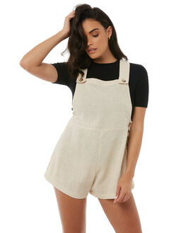 NATURAL WOMENS CLOTHING ZULU AND ZEPHYR PLAYSUITS + OVERALLS - ZZ1802NAT