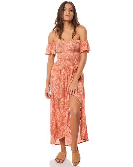 RUST PAISLEY WOMENS CLOTHING O'NEILL DRESSES - 4721603-32Z