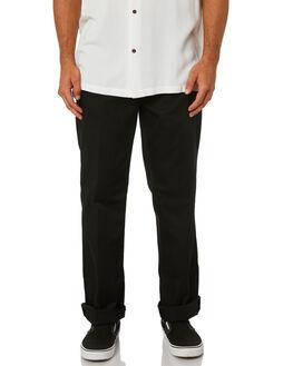 BLACK MENS CLOTHING NUDIE JEANS CO PANTS - 120160BLK
