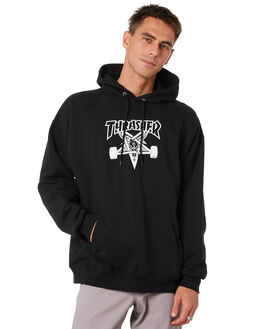 BLACK MENS CLOTHING THRASHER JUMPERS - 20365663BLK