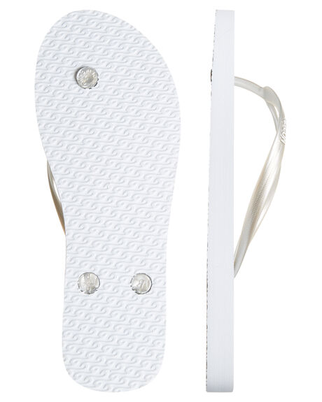 WHITE SILVER WOMENS FOOTWEAR RIP CURL THONGS - TWT4311572