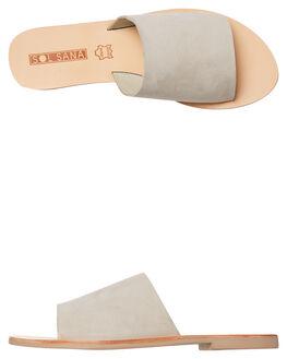 FOG GREY WOMENS FOOTWEAR SOL SANA SLIDES - SS181S307FOG