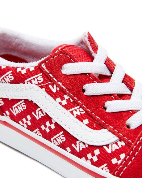 RACING RED KIDS BOYS VANS SNEAKERS - VN0A4TZOW35RRED