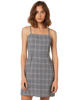 GREY CHECK WOMENS CLOTHING THRILLS DRESSES - WSMU8-912GCHK