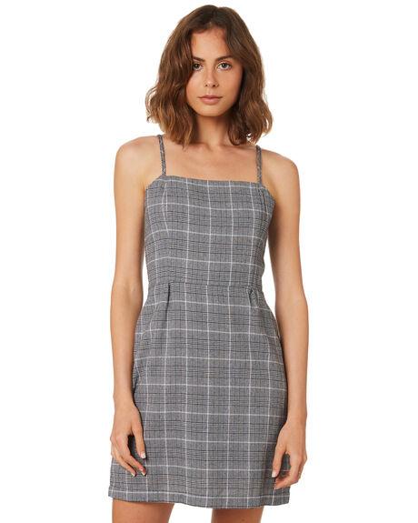 GREY CHECK WOMENS CLOTHING THRILLS DRESSES - WSMU8-912GCHK