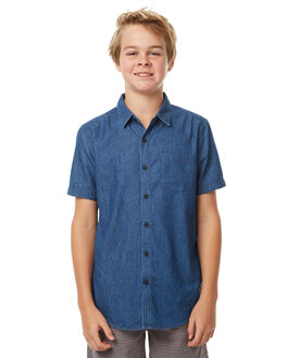 MID BLUE KIDS BOYS MOSSIMO SHIRTS - 3M71SBMID