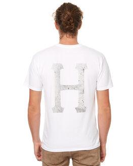 WHITE MENS CLOTHING HUF TEES - TS63016WHT