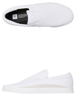 WHITE MENS FOOTWEAR ADIDAS SLIP ONS - DB3065WHT
