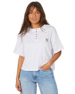 WHITE WOMENS CLOTHING STUSSY TEES - ST105013WHT