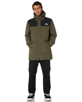 NEW TAUPE TNF BLACK MENS CLOTHING THE NORTH FACE JACKETS - NF0A4ALMBQW