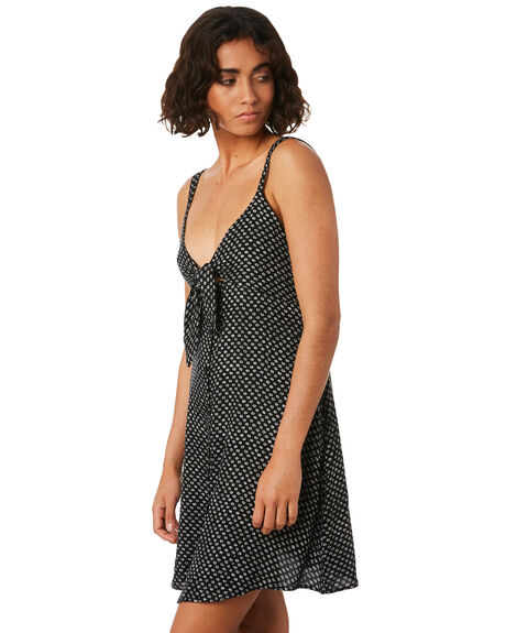 BLACK COMBO WOMENS CLOTHING VOLCOM DRESSES - B1341819BLC
