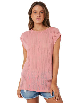 PINK WOMENS CLOTHING RIP CURL FASHION TOPS - GTEXS10020