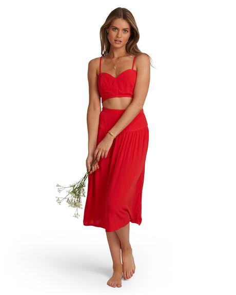FIESTA RED WOMENS CLOTHING BILLABONG FASHION TOPS - BB-6504156-FTR
