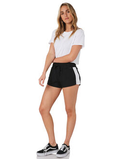 BLACK WOMENS CLOTHING HURLEY SHORTS - CK0906010