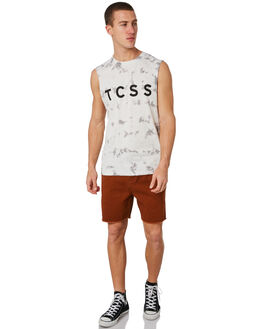 STONE MENS CLOTHING THE CRITICAL SLIDE SOCIETY SINGLETS - SWT1726STONE