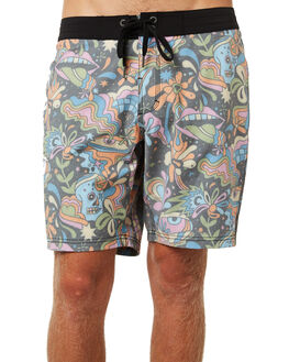 BLACK MENS CLOTHING AFENDS BOARDSHORTS - M184302BLK