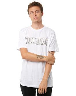 WHITE MENS CLOTHING ZOO YORK TEES - ZY-MTA8112WHT