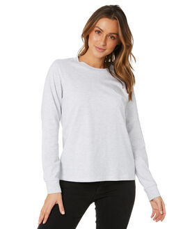 HEATHER GREY WOMENS CLOTHING AS COLOUR TEES - 4056HTHR
