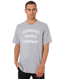 HEATHER GREY MENS CLOTHING HERSCHEL SUPPLY CO TEES - 50027-00388