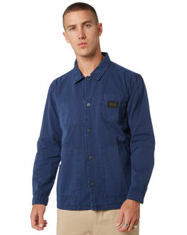 PIGMENT NAVY MENS CLOTHING STUSSY JACKETS - ST095500PGNVY