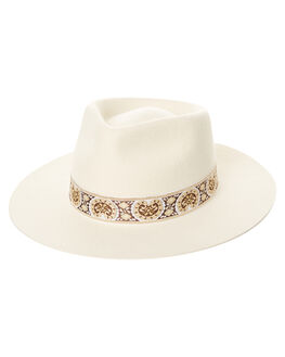 IVORY WOMENS ACCESSORIES LACK OF COLOR HEADWEAR - BEV1IVRY