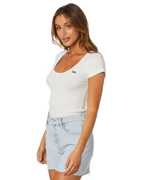 WHITE WOMENS CLOTHING LEE TEES - L-652106-922WHT