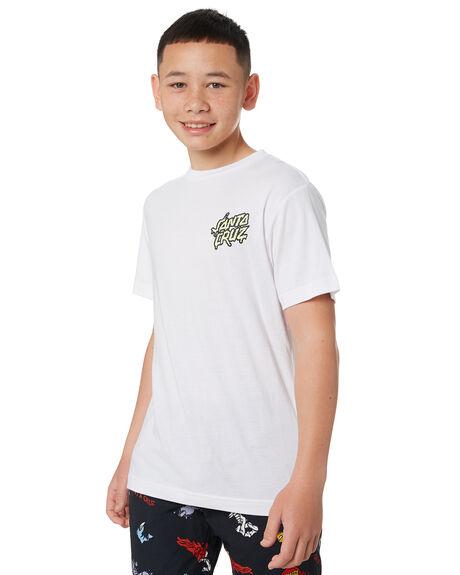 WHITE KIDS BOYS SANTA CRUZ TOPS - SC-YTC0423WHT