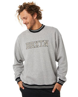 HEATHER GREY MENS CLOTHING BRIXTON JUMPERS - 02732HTGRY