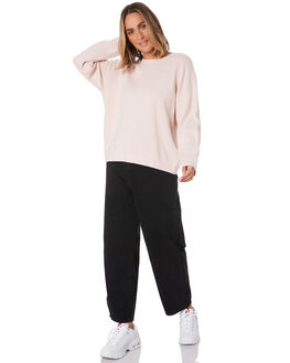 DUSTY PINK WOMENS CLOTHING HUFFER JUMPERS - WKCR01S011DPNK