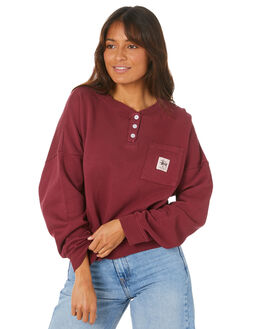 GRAPEVINE WOMENS CLOTHING STUSSY JUMPERS - ST105309GRPV
