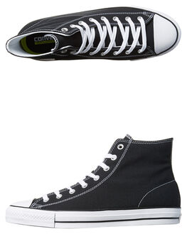 BLACK WHITE MENS FOOTWEAR CONVERSE SKATE SHOES - 155751BLK