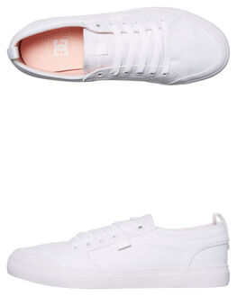 WHITE PINK MENS FOOTWEAR DC SHOES SKATE SHOES - ADYS300275WPN