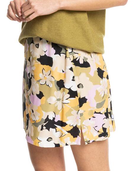 OATMEAL CAMO SWIRL WOMENS CLOTHING QUIKSILVER SKIRTS - EQWWK03003-TFL6